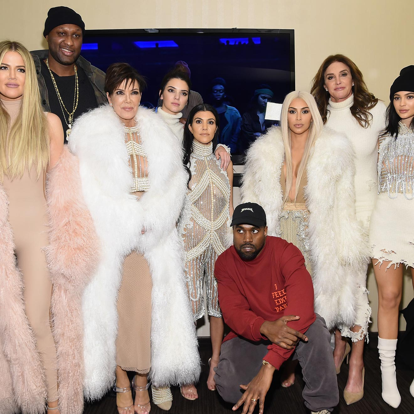 "Der Kardashian-Jenner-Clan wurde durch die Reality-TV Serie ""Keeping up with the Kardashians"" berühmt"