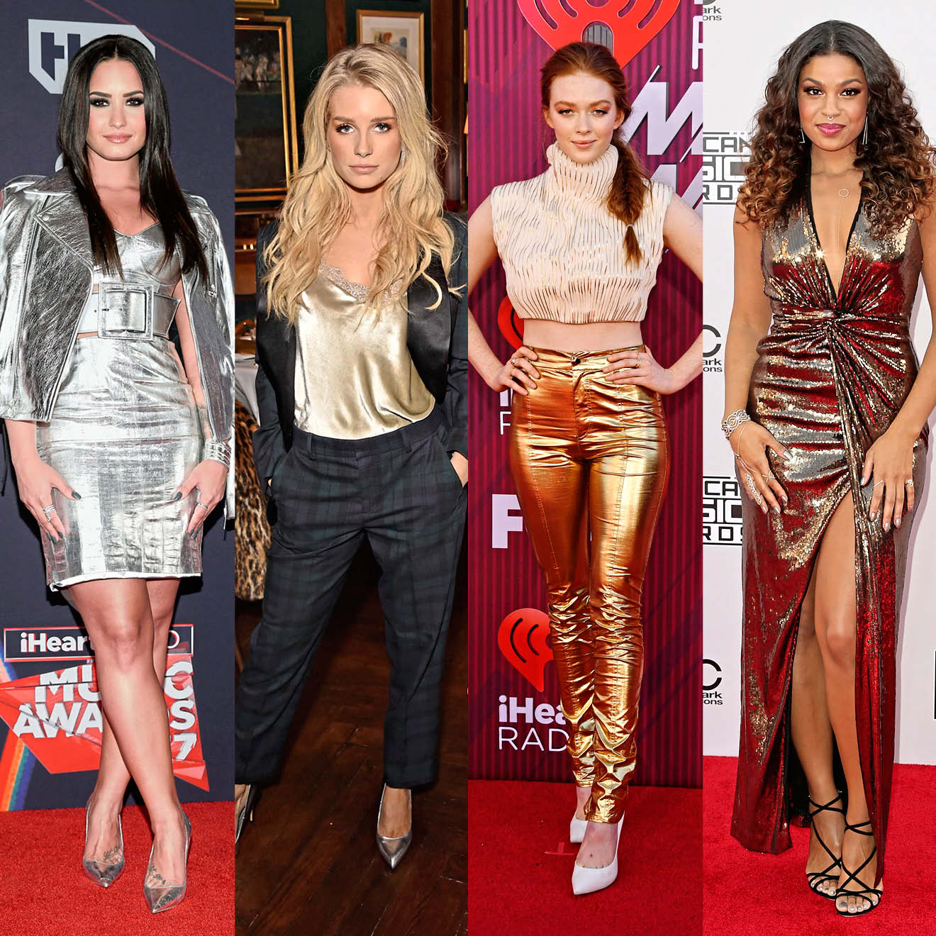 Glamouröse Silvester-Outfits im Metallic-Look.
