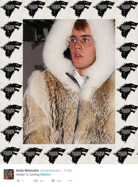 Justin Bieber als Game of Thrones Meme