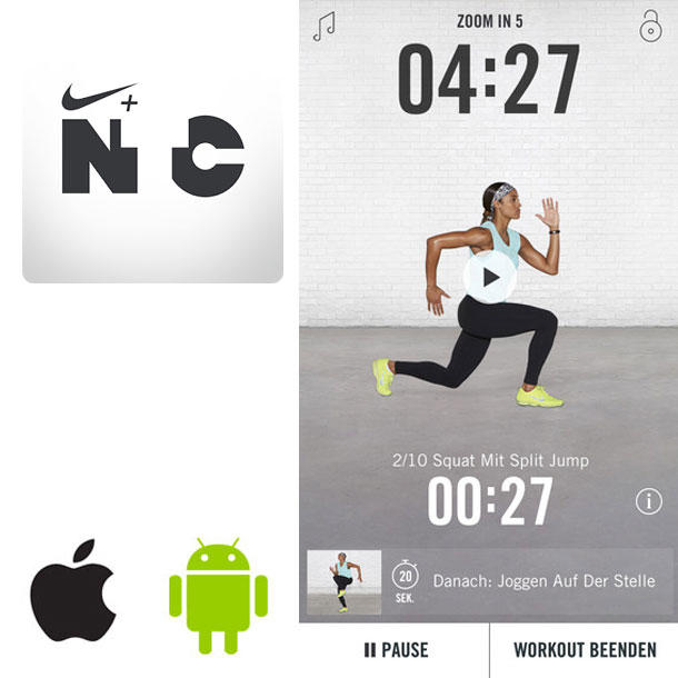 Die besten Fitness-Apps: Nike+ Training Club