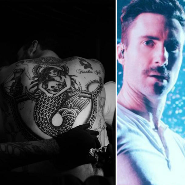 Adam Levine hat ein neues riesiges Tattoo