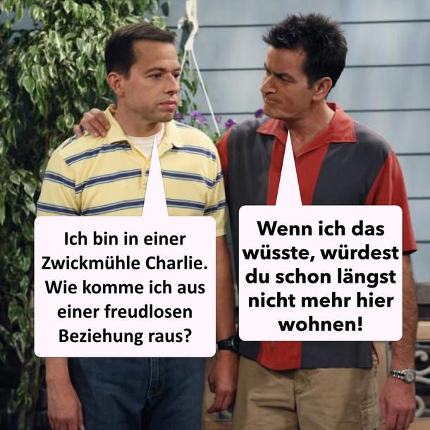 "Two And A Half Men"" Sprüche: Zieh aus, Alan"