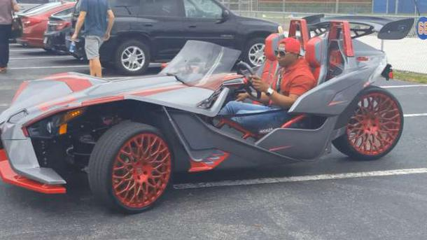 Yoenis Cespedes Tricycle